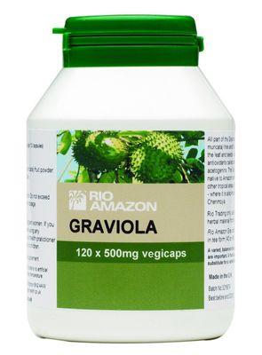 Rio Amazon Graviola 500mg - 120 Vegi Capsules