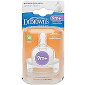 Dr Brown's Options Wide Necked Teats - Level 4