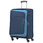 American Tourister HyperFlair Cabin 4 Wheel Blue Suitcase