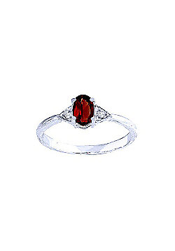 QP Jewellers Diamond & Garnet Allure Ring in 14K White Gold