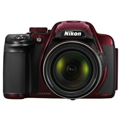 Nikon Coolpix P520 Digital Camera, Red, 18 MP, 42x Optical Zoom, 3
