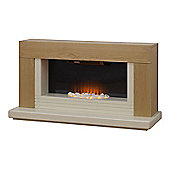 Adam Carrera Fireplace Suite in Oak
