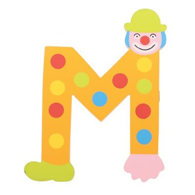 Tatiri Crazy Clown Letter M ((Orange) Spots)