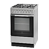 Indesit Electric Cooker with Electric Grill and Gas Hob, I5GSH1(S)/UK - Silver