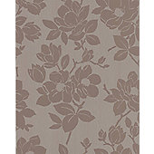 Graham & Brown KH Rose Wallpaper - Gold / Taupe
