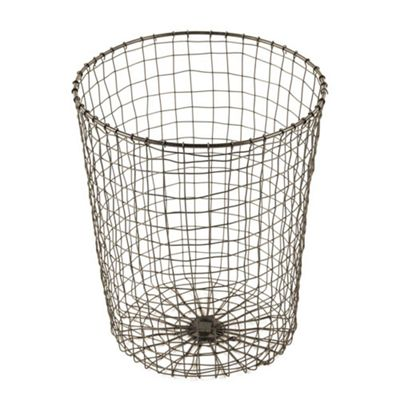 Design Ideas Cabo Waste Paper Bin Hand Woven Wire in Natural Copper Look Finish