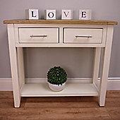 Nebraska Painted - Console Table / Cream Oak 2 Drawer Storage Unit