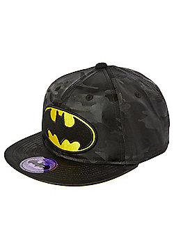 DC Comics Batman Camo Print Flat Peak Cap - Black