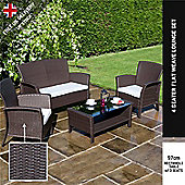 BillyOh Rosario Flat Weave Rattan Modern Lounge Set - Includes Cushions