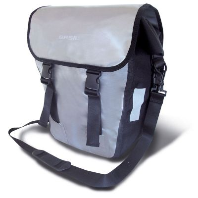 Basil Forest Rearrider Single Pannier Bag 100% Waterproof w/ Locking System Silver 20L