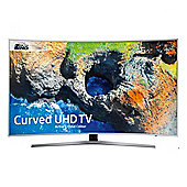 "Samsung UEMU6500 "" Curved HDR 4K Ultra HD Smart TV Active Crystal Colour Freeview HD - Silver"