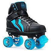 Rio Roller Kicks Quad Roller Skates - Black/Blue - Black