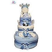 New Baby Boy Spotty Safari Giraffe Nappy Cake Baby Shower Gift