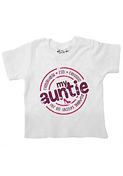 Dirty Fingers My Auntie...for all things shopping Baby Girl T-shirt - White
