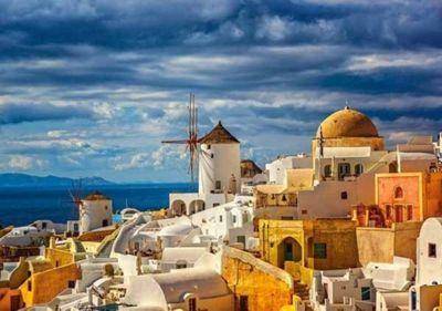 View of Oia - Santorini - 500pc Puzzle