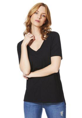 F&F Mercerised Cross-Back T-Shirt Black 20
