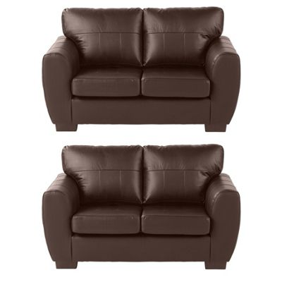 Ernest 2 Seater & 2 Seater Sofa Bundle, Chocolate