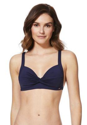 F&F Shaping Swimwear Twist Front Bikini Top Navy 18