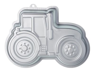 KitchenCraft Sweetly Does It Silver Anodised Tractor Shaped Cake Pan