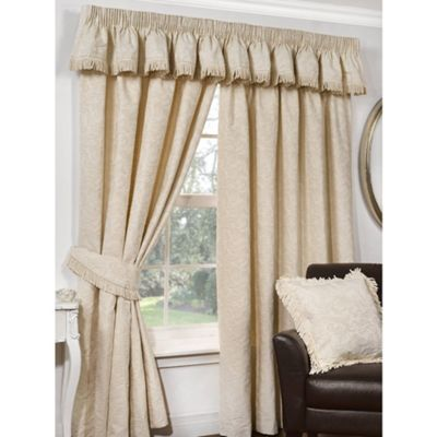 Lerwick Natural Pencil Pleat Curtains - 46x54 Inches (117x137cm)