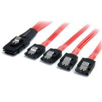 STARTECH - 1m Serial Attached SCSI SAS Cable - SFF-8087 to 4x Latching SATA