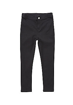 F&F Stretch High Waisted Skinny Jeans - Black