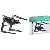 Professional Laptop Desk Stand with Extra Shelf - Black
