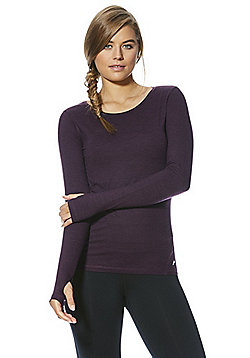 F&F Active Long Sleeve Soft Touch Top - Purple