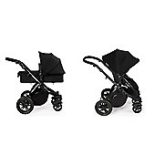 ickle bubba Stomp V2 2 in1 Pram - Black (Black Chassis)