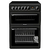 Hotpoint HAE60K S Double Oven Electric Cooker - Black