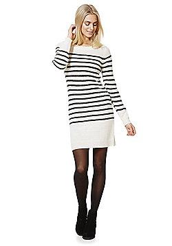 Jacqueline De Yong Cloud Striped Jumper Dress - Cream