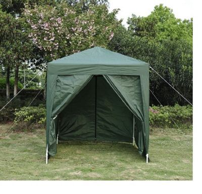 Outsunny 2m x 2m Garden Heavy Duty Pop Up Gazebo Marquee Party Tent - Green
