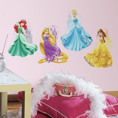 Children's Giant Wall Stickers - Disney Princesses and Castles