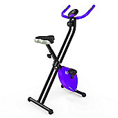 RevXtreme X-Bike Folding Magnetic Exercise Bike Indoor Cycle Purple
