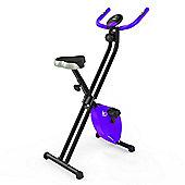 RevXtreme X-Bike Folding Magnetic Exercise Bike Indoor Cycle Purple