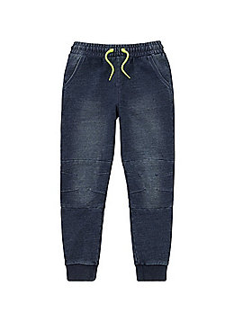F&F Denim Cuffed Joggers - Indigo wash