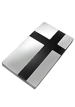 Urban Male Modern Stainless Steel & Black Resin Men's Money Clip