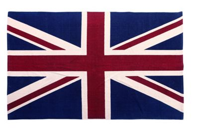 EHC Union Jack Handwoven Floor Cotton Rug