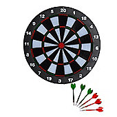 "Homcom 16"" Professional Dartboard Set w/ 6 Darts Full Size Tournament Dart Board"