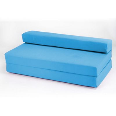 Ready Steady Bed Double Cotton Twill Fold Out Z Bed - Turquoise