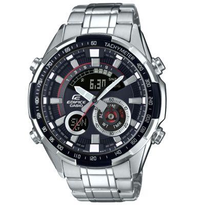 Casio Men's Edifice Thermometer Alarm World Time Chronograph Round Watch