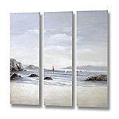 Beachfront Canvas - set of three