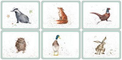 Pimpernel Wrendale Designs Placemats Set of 6