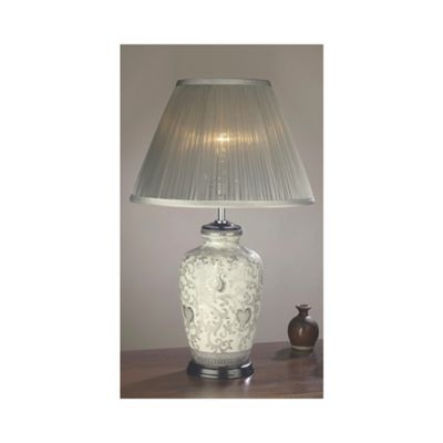 Silver Thistle Table Lamp - 60W/20W LE E27