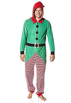 F&F Elf Christmas Onesie - Green