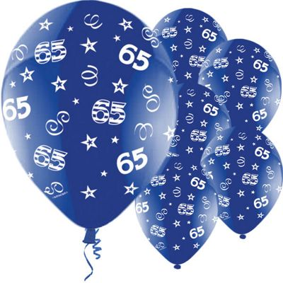 65th Birthday Perfection 11 inch Latex Balloons - 25 Pack