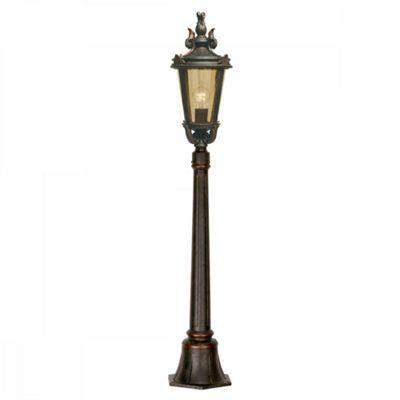 Weathered Bronze Pillar Lantern Medium - 1 x 100W E27