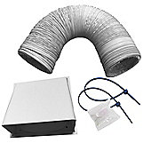 CDA AED63 Universal 6m x 150mm Cooker Hood Flexible Ducting Kit