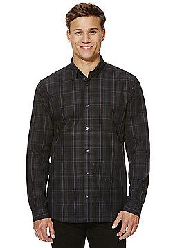 Jack & Jones Premium Checked Slim Fit Shirt - Dark grey