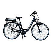 """Lindsey West L-W 430 17"""" Frame Step Through Electric Bike Black"""